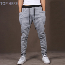 Casual Men Pants Hot Sale Unique Big Pocket Hip Hop Harem Pants Fitness Clothing Quality Outwear Casual Men Joggers TOP HERE
