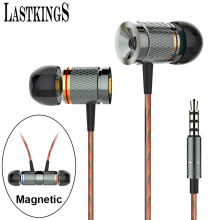 Lastkings Wired In-Ear Earphone headset magnetic with Mic Microphone for mobile phones Stereo Bass Earbuds 3.5mm Jack