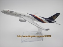 16cm Alloy Metal Air Thai A330 Airlines Aircraft Airbus 330 Airways Airplane Model Plane Model W Stand  Gift