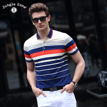 2017 high-quality 2017 high-quality summer short-sleeved POLO business men's brand polo shirt fashion color strip Polo shirt8206