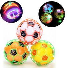 LED Light Jumping Ball Kids good Music Football Bouncing Dancing Ball Children's Funny Toy Christmas gift Random COLORS