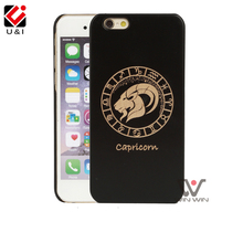 U&I New Fashion Luxury Wood Phone Cases For iphone 5 5s 6 6s 6plus 7 7plus Caes 12 Zodiac Signs Designs Vintage Wooden Cover