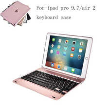 ABS plastic alloy Metel Ultrathin Keyboard Dock Cover Case Stand Holder For Apple iPad 6 ipad Air 2 9.7 inch keyboard case(China)
