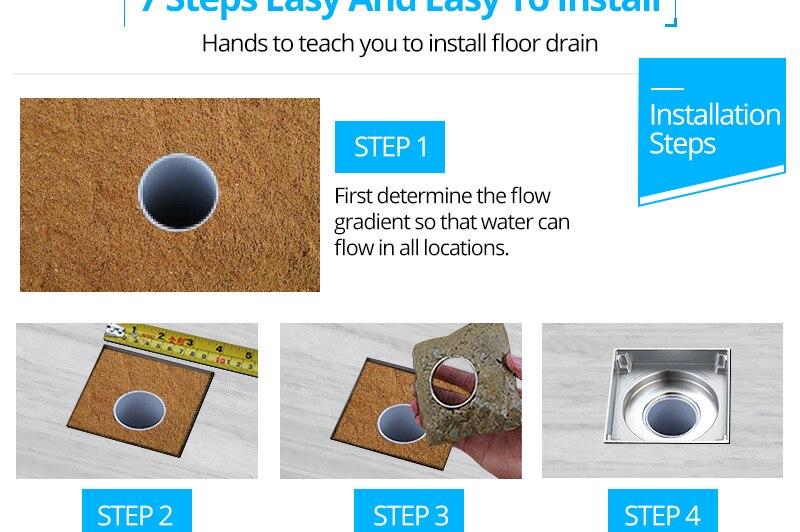 DCAN Brass Drains Drain Strainers Floor Linear Shower Floor Drains Bathroom Shower Drain Cover Kitchen Filter Strainer Drainer (29)