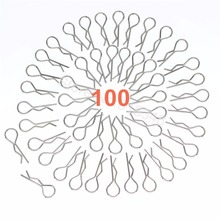 100pcs Universal 1/10th Scale Bent Body Clips Pins Metal Steel For Redcat HPI Himoto RC Car Parts Truck Buggy Shell HSP Traxxas