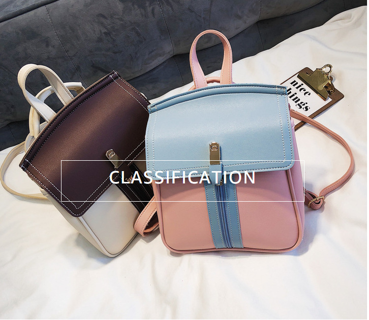 9c88295aaed8 SUNNY SHOP Korean Kawaii Aniti Theft Backpack Women For High School Bag  Trendy Girl College Bag Cute Small Leather Back pack