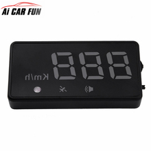 2017 Car HUD Head Up Display Car GPS Positioning Digital LED Projector Head-up Display Vehicle OBD Speed Warning