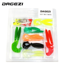 DAGEZI new 25pcs/set soft bait small 6 lead head hook lure combination set soft fishing lure set soft bait fishing tackle 78#(China)