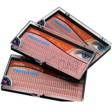 NAVINA 102 Strips Individual False Eyelash D-Curl 0.12mm thickness 3D W Fake Eyelashes Extension Strips 8mm/10mm/12mm Non Knot