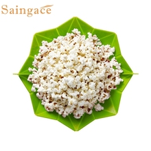 Saingace  Microwave Silicone Magic Household Popcorn Maker Container Healthy Cooking Tools*20 Drop