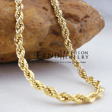 FIHI0105 Fashion Copper THE PASSAGE 7 gold Filled chain necklace 48cm Freeshipping(China)