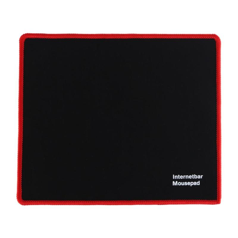 25x21cm Professional Gaming Mouse Pad Solid Color Locking Edge Mouse Mat Anti-slip Natural Rubber Gaming Mouse Mat for PC Laptop 4