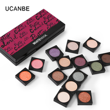 UCANBE Brand Glitter Shimmer Eyeshadow Powder Makeup Single Pigment Brighten Matte Pressed Eye Shadow Color Make Up Cosmetic Set