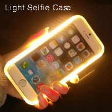 Luxury Cover for S6/S6 edge S7/S7 edge Flash LED Light Selfie Phone Case for iPhone 6/6S 6 Plus/6s plus Luminous Cover HU786