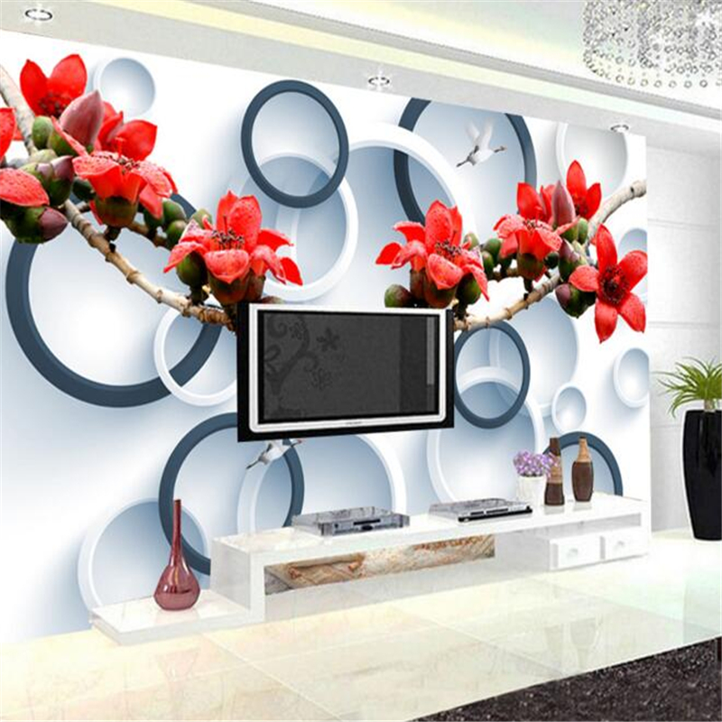 wallpaper for walls Three - dimensional flowers tree branches murals 3D living room TV decorative wall paper 3D wallpaper photo<br><br>Aliexpress