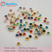 Multi color claw Rhinestone Gold Plated crystal rhinestone sew on bag/garment/bag DIY More Than 20colors(China)