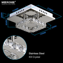 Square LED Crystal Chandelier Light for Aisle Porch Hallway Stairs wth LED Light Bulb 12 Watt 100% Guarantee(China)