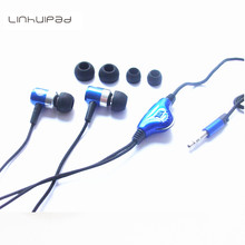 Linhuipad 3.5mm Stereo Metal Earphone With Volume Control Free Shipping By Singapore Post(China)