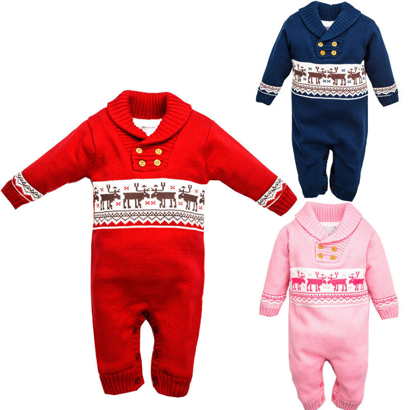 Neonatal Rompers 2017 brand fashion sweater baby jumpsuit Thick cashmere lapel boys and girls leotard Overalls<br><br>Aliexpress