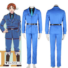 APH Axis Powers Hetalia North Italy Military Uniform Cosplay Costume Adult Size Unisex For Halloween Party