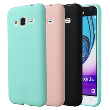 Silicone Case For Samsung Galaxy J3 2016 J320 J320F Funny Phone Bag Case Matte Cute Candy Color Girls For Samsung Galaxy J3(China)