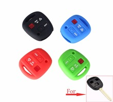 KEYYOU For Toyota 4 Runner Straight Corolla RAV4 Camry 2 Buttons + 1 Panic Car Styling Silicone Cover Set Remote Key Case(China)