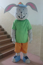 Newest Gray Rabbit Mascot Costume Cartoon Mascot Character Costume