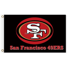 San Francisco 49ers Flag Custom Faithful Word Football San Francisco 49ers Banner Black Red Flags(China)