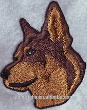 2016 hot Animal Dogs logo CUSTOM EMBROIDERY BADGE PATCH FOR CLOTHING