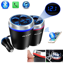 TF/Micro SD Music MP3 Player Bluetooth Car Kit FM Transmitter HandsFree Cigarette Lighter Adapter Splitter 3 Ports USB Charger(China)