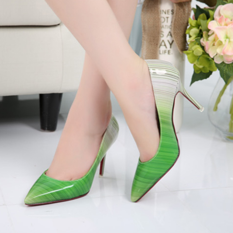 2017 Sweet Sexy Plus Size Thin Heel Pumps Women Spike High Heel Women Shoes Spring Wedding Single Shoes Patent Leather ZK3.5<br><br>Aliexpress