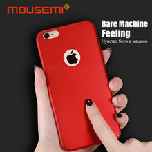 MOUSEMI For iPhone 6 6s Case Hard Plastic PC 360 Full Protection Slim Cover For iPhone 6 6s Plus Luxury Red For Girl Phone Cases(China)