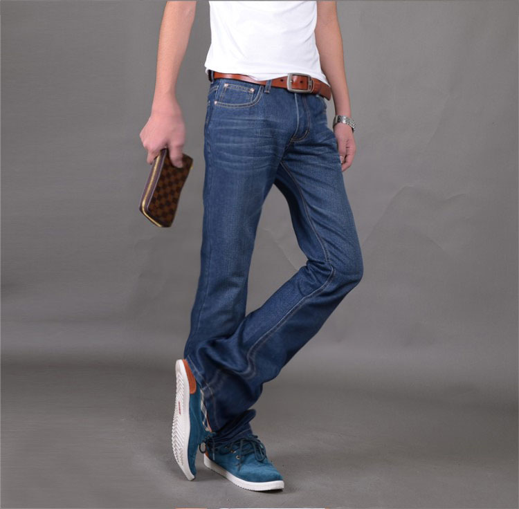 High Quality and Promotion 2017 male mid waist elastic slim boot cut semi-flared bell bottom jeans four seasons mens jeansÎäåæäà è àêñåññóàðû<br><br>
