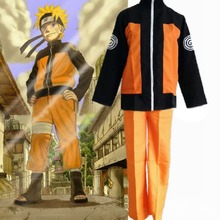 Hot Naruto Cosplay Costume Uzumaki Naruto Costume Suit Naruto Ninja Yellow Uniform Outfit Clothes Halloween Cosplay Customized