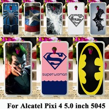 soft tpu Cases For Alcatel OneTouch Pixi 4 5.0 inch OT-5045 5045D One Touch Pixi4 (5) Cases Batman Captain America Logo Bag
