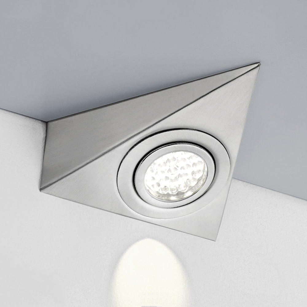 1-10x LED 220V Triangle Kicthen Under Cabinet Cupboard Wall Lamp Cool//Warm White