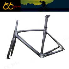 T700 Full carbon  Disc brake Frame  Full Carbon Bicycle Frame 700C  Road Bike Frame With Front Fork CC-CR-115-D Free Ship