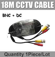 18M CCTV Cable DC Power connector and BNC Video Plug Connector for CCTV Camera 10m 20m cctv cable BNC
