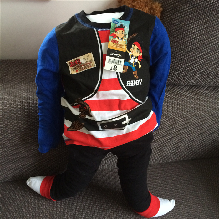 Jake and the Neverland Pirates boy clothes long sleeve pajama pure cotton sleepwear for boys Pirate for kids<br><br>Aliexpress