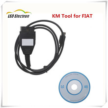 High quality !KM Program TOOL via OBD2 For Fiat Odometer Correction Tool with Free shipping(China)