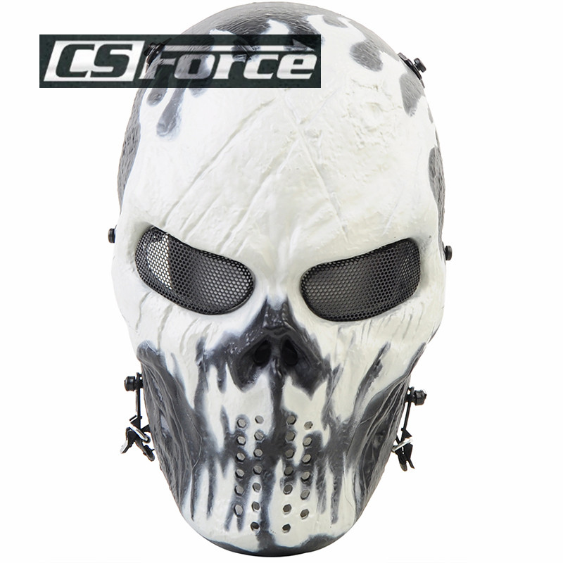 Ghost Camouflage Tactical Masks Outdoor Military Motorcycle Scary CS Paintball Balaclava Airsoft Skull Protection Full Face Mask<br><br>Aliexpress