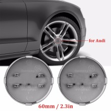 4pcs Accessories ABS Stickers Car Wheel Hub Cap Center Caps 60MM For Audi A3 A4 A5 A6 A7 A8 S3 S4 S5 S6 S7 Sline car-styling(China)