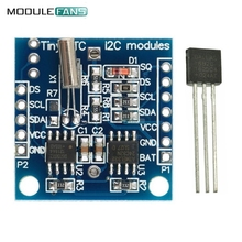 DS18B20 Temperature Sensor+I2C RTC DS1307 AT24C32 Real Time Clock for Arduino Module