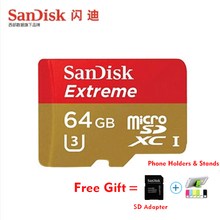 SanDisk Extreme micro SD card 64GB UHS-I Card microSDXC/SDHC Class 10 U3 90MB/S 16GB TF Card 32GB 128gb plus SD adapter 64G 32G