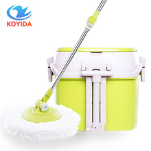 KOYIDA Dual Drive Household Mop Bucket Stainless Steel Mops Magic Spin Mop Bucket Hand Pressure With 1 Microfiber Mop Head(China)
