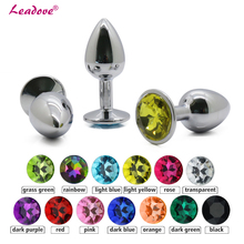 Buy Cheaper Price Small Size Metal Crystal Anal Plug Stainless Steel Booty Beads Jewelry Anal Butt Plug Sex Toys Products Women