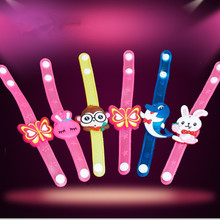 Real Led Wedding Dress 60pcs/lot Led Colorful Light Up Bracelets Bangle Wristband Toy Party Favors Appropriate Children