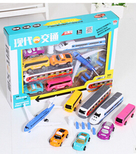 The new car back to power urban transport box model toy cars for children(China)