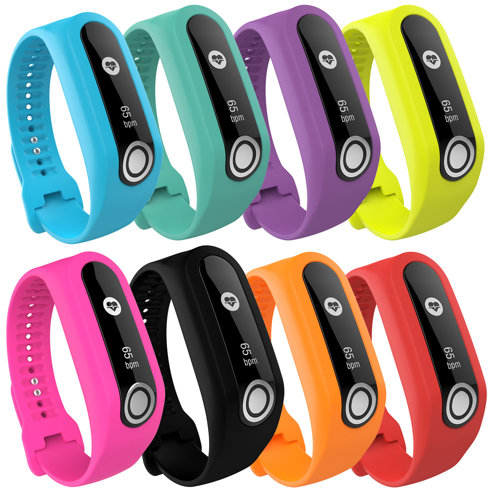 Soft Durable Colorful Strap Wristband Replacement Silicone Watchband Accessories for Tom Tom Touch Fitness Tracker Smart Watch 3