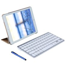 Wireless Bluetooth Keyboard for iPad Pro 9.7 with PU Leather Stand Smart Cover Case HD Flim